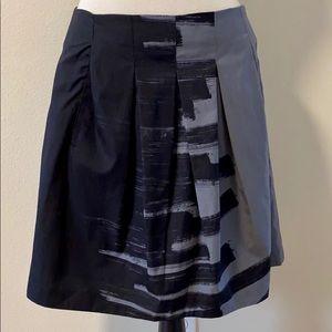 Vince women's Brushstroke Pleated skirt